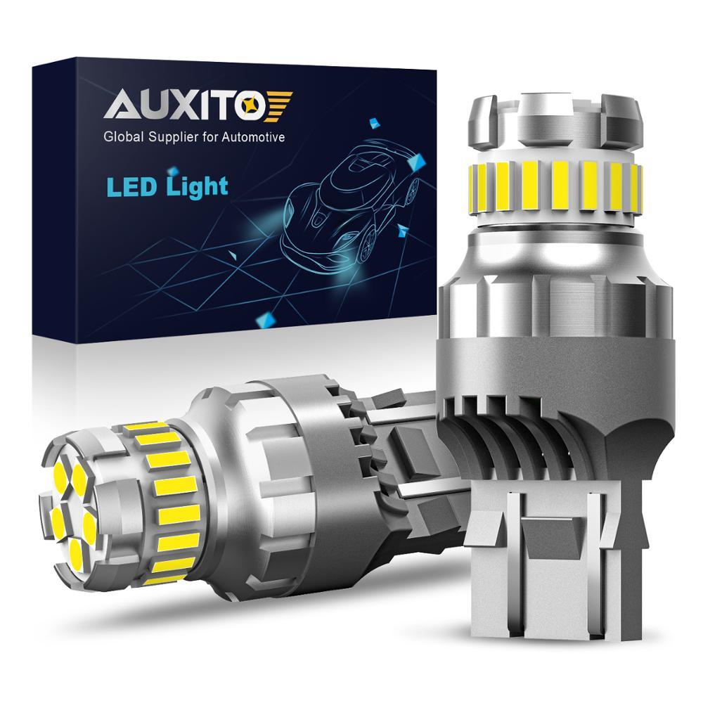 2 pièces T20 W21/5W 7443 7440 LED Canbus lumière pour Lada Kalina Granta Vesta DRL ampoule LED 12V 6500K blanc Super lumineux 3030 4014 SMD