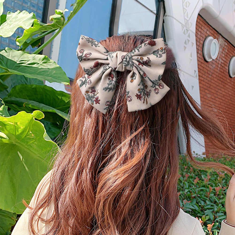 Nuovo Fiore di Seta Grande Fiocco Floreale Dei Capelli del Nodo Spille Delle Donne Dei Capelli Delle Ragazze Clip Spille Accessori Barrette Hairclip Ornamenti Copricapo Copricapi