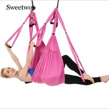 Aerial Yoga Hammock Set Multifunction Yoga Belt Flying Yoga Inversion Tool For Pilates Body Shaping With Carry Bag Anti-gravity 3 meters aerial yoga hammock swing latest multifunction anti gravity yoga belts for yoga training yoga for women s sporting