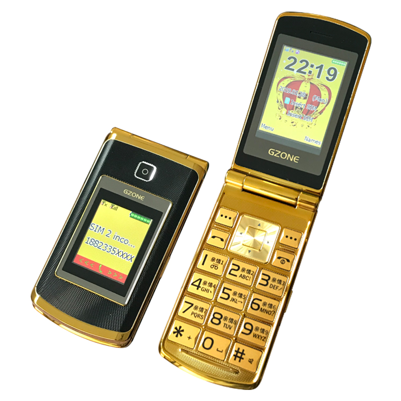 Two Display Senior Cellphone Handwriting Large Key Loud Sound Magic Voice Fast Call Torch Touch Blacklist Senior Cellphone