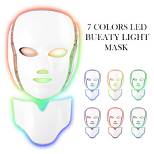 Beauty Photon LED Facial Mask  Anti Wrinkle Acne Removal Skin Micro Electric Skin Tender Face Neck Care Facial Beauty Machine 3mhz ultrasound vibration galvanic ion anti aging acne wrinkle removal photon tender skin rejuvenation facial beauty massager