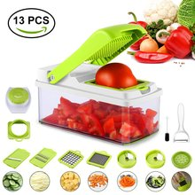 13 in 1 Kitchen Slicer & Chopper Vegetable Cutter Stainless Steel Removable Food Peeler