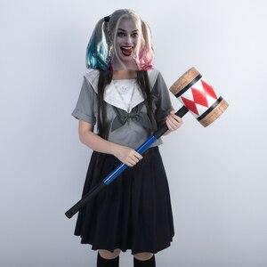 Image 5 - Disfraz de los pájaros de la presa, Harley Quinn, mazo, cara sonriente, Suicide Squad, murciélago, accesorios de Halloween