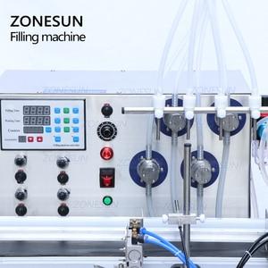 Image 3 - ZONESUN 4 Nozzles Magnetic Pump Automatic Desktop Liquid Water Drink Filler Conveyor Filling Machine Bottle Water Making Machine
