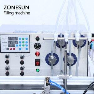 Image 3 - ZONESUN 4 buses pompe magnétique ordinateur de bureau automatique liquide eau boisson remplissage convoyeur Machine de remplissage bouteille deau faisant la Machine
