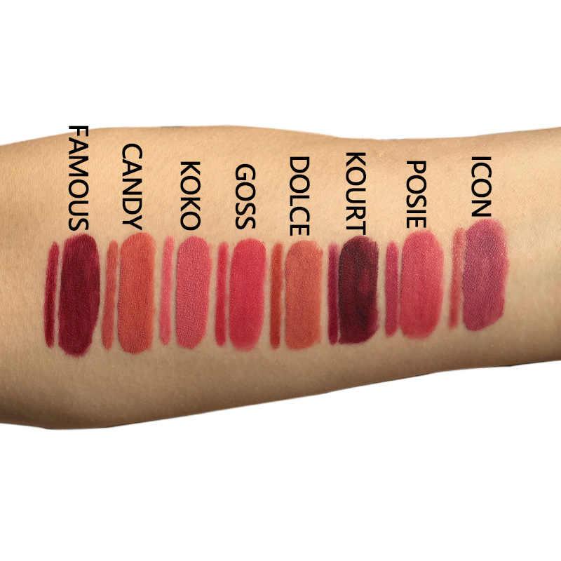 16pcs /lot LIYADA liquid lipstick makeup matte red lips tint set mate lipkit candy k ruj me nude brand lip gloss kit batom