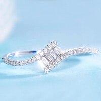 Real Diamond Solid 18k White Gold 0.168cttw Natural Diamond Light Luxury Diamond Small Fresh Birthday Gift For Women