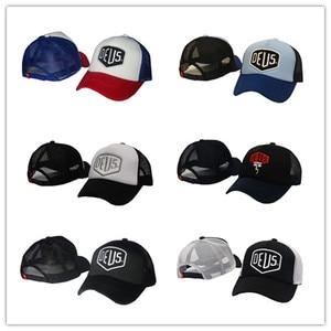 New design Mesh cap Trucker Black Blue Red Vintage MOTORCYCLES baseball cap men women's cheap snapback hat(China)