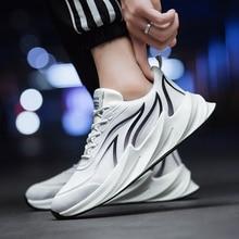 Мужские кроссовки на плоской подошве, темно синие дышащие кроссовки, повседневная обувь для тренировок по щиколотку, 2020