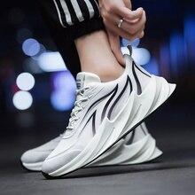 2020 mężczyźni obuwie oddychające popularne buty męskie płaskie Zapatos De Hombre trampki poduszki buty kostki trenerzy Sapato Masculino