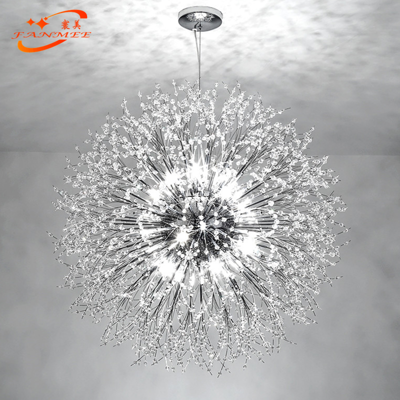 H79ffbdb072004132920064c47afd0b39a Modern LED Crystal Chandelier Light Pendant Hanging Lamp Dandelion Cristal Chandelier Lighting for Living Dining Room Decoration