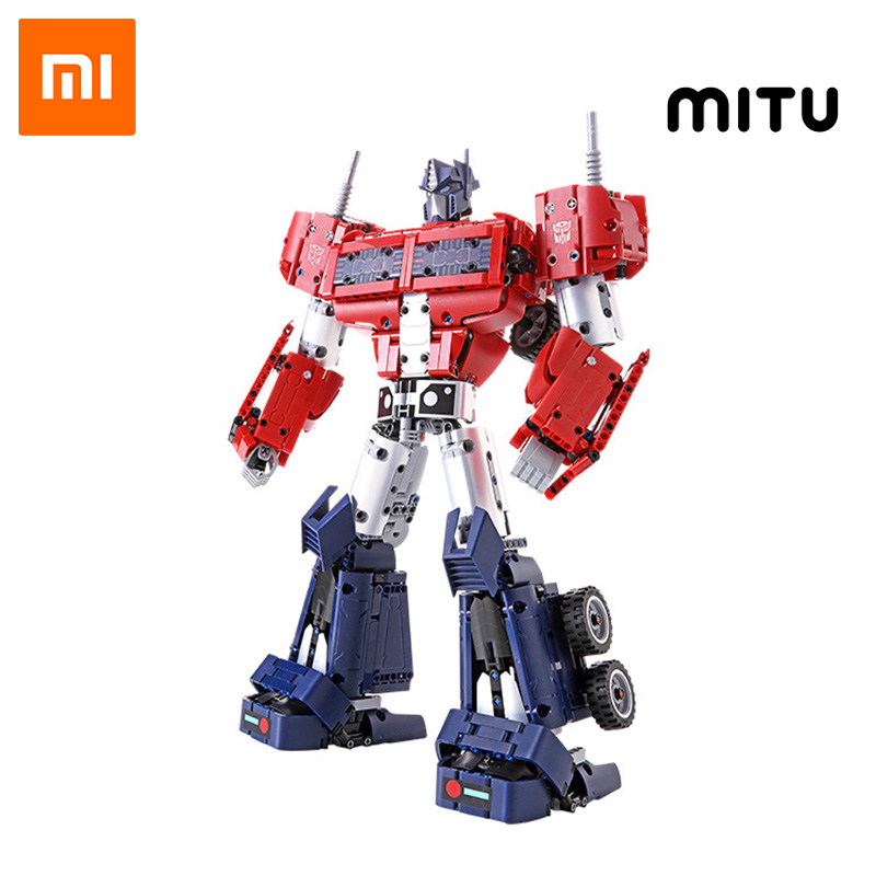 Xiaomi MITU Building Blocks Transformers Optimus Prime Full body joint movable Gift Kids Toy Autobots Mi Constructor 1280+ parts