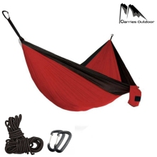 Double Hammock 300*200cm Portable Camping Parachute Survival Garden Outdoor Furniture Sleeping Hamaca Travel Double Hanging Bed
