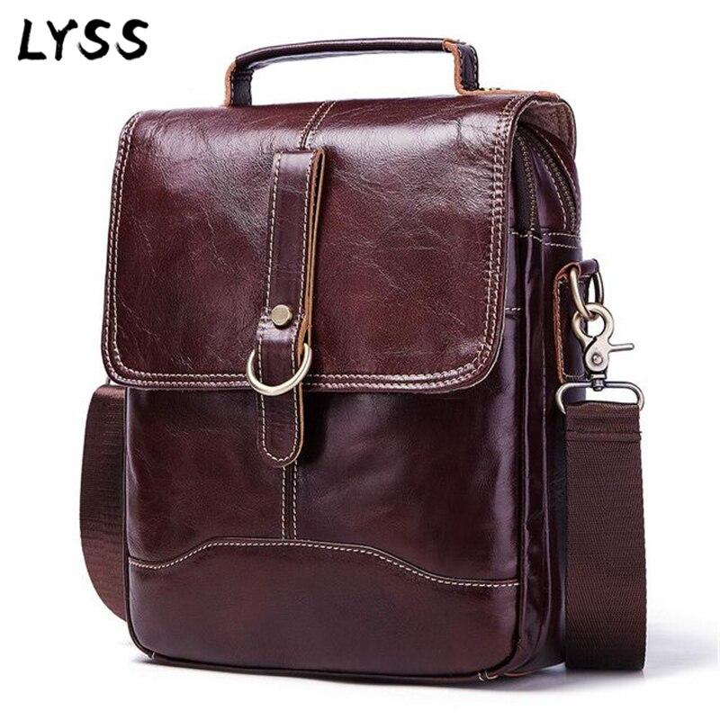 Bag men's Genuine Leather briefcase Male man laptop bag natural Leather for men Messenger bags men's briefcases Shoulder bags