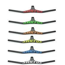 Syncros New arrival color logo Integrated MTB Handlebar Full Carbon Fiber One-shaped Integrated Handlebar Riser Angle -17 Degree