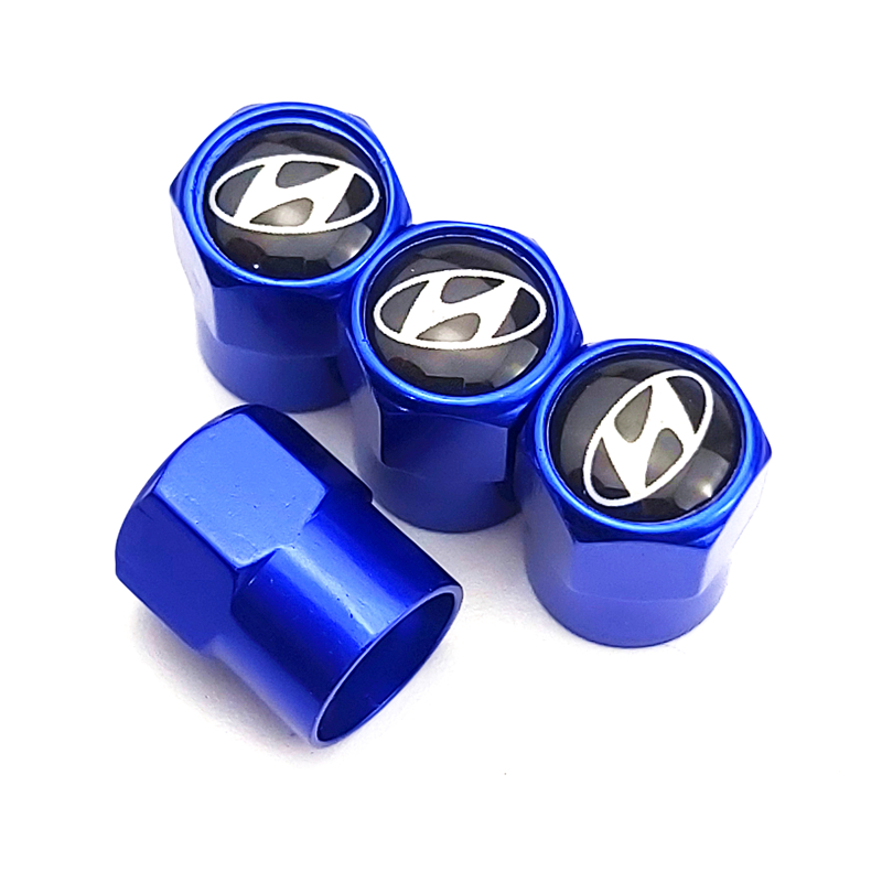 4PCS Car Accessories Metal Wheel Tire Valve Caps For Hyundai Tucson Solaris I30 Creta Ix35 I40 IX20 Accessories Car Styling