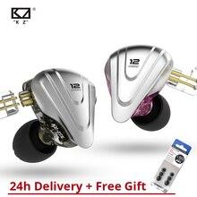 KZ ZSX 5BA+1DD Hybrid Earphone HIFI Metal Bass Earbuds Can Use Wireles
