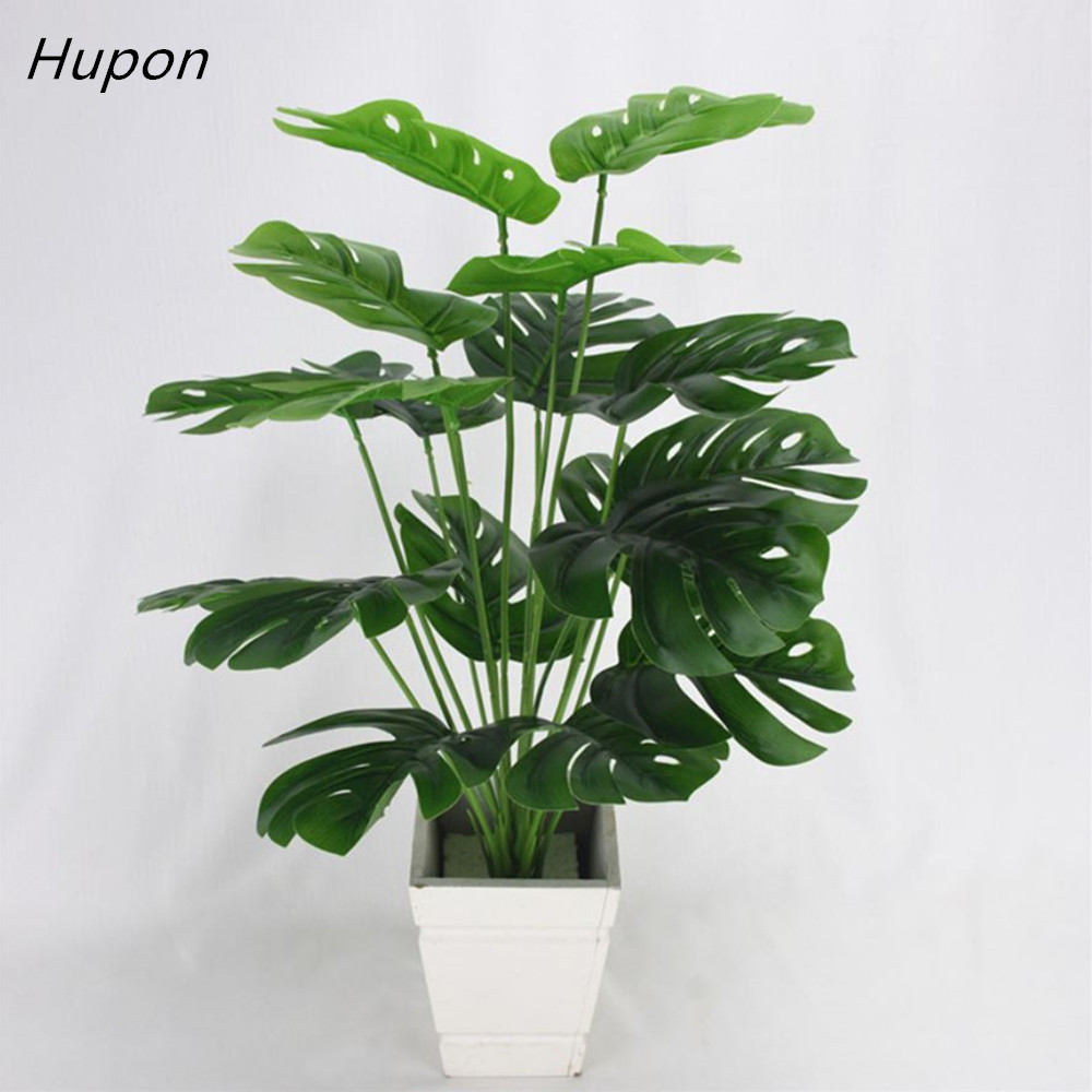 49cm Artificial Plants Green Palm Leaves Monstera Home Garden Living Room Bedroom Balcony Decoration Tropical Plastic Fake Plant