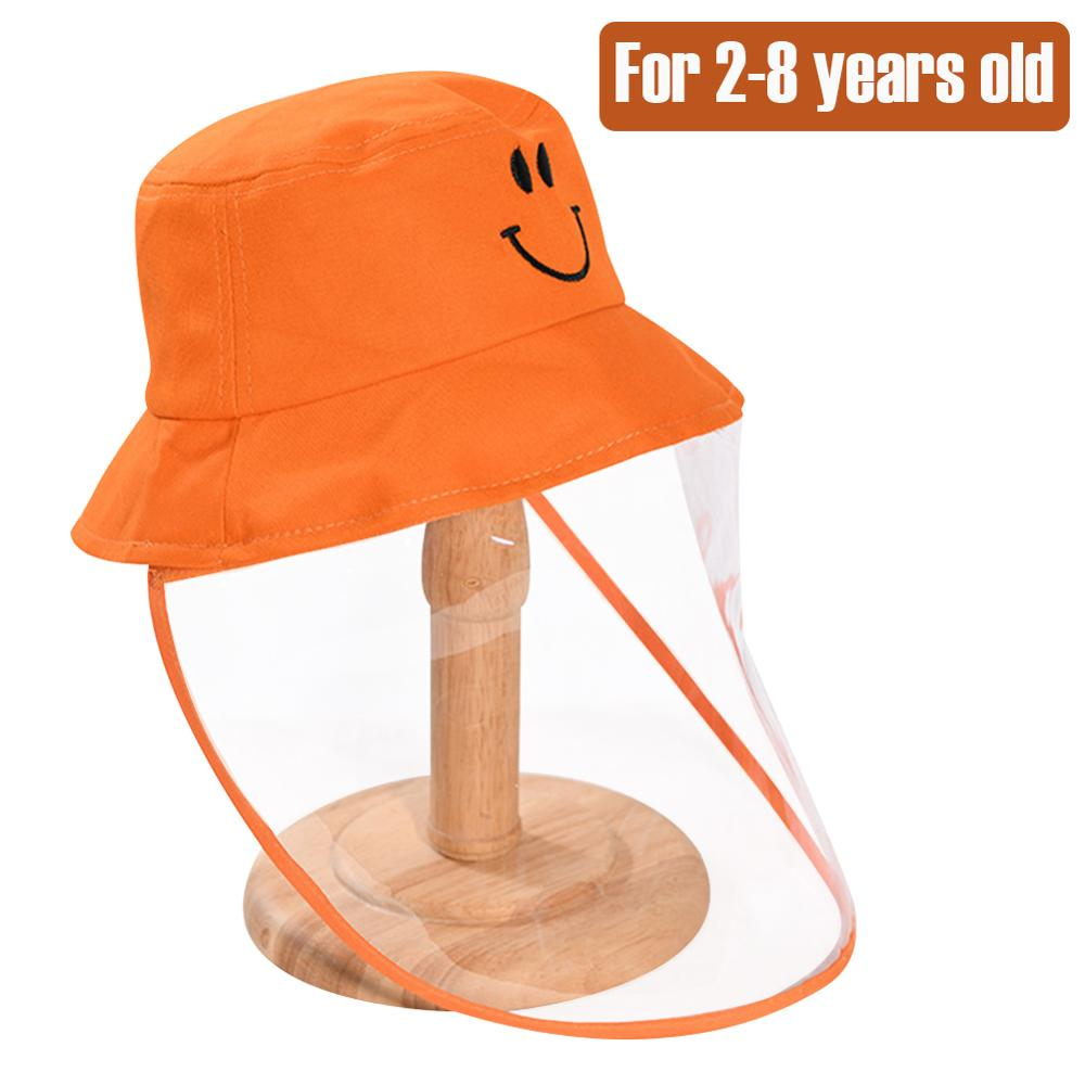 Kids Protective Bucket Visor Hat  TPU Shield Protective Bucket Cotton Anti-spitting Fisherman Outdoor Protection 2-8 Years