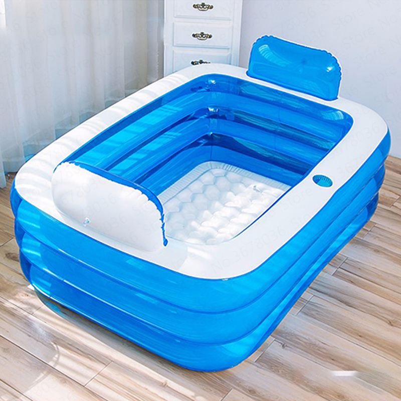 Inflatable Bathtub Home Thickening Folding Barrel Children's Can Sit Lie Plastic PVC Inflatable Bath Tub Adults  Portable