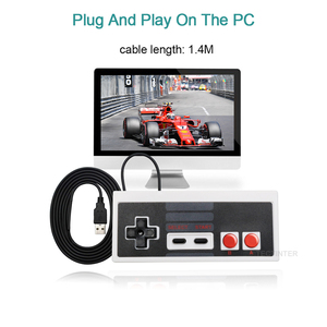 Image 3 - For NES Wired USB Controller Gamepad PC/USB/NES Computer Video Games Mando Handle Retro USB For NES Joystick Controle Manette