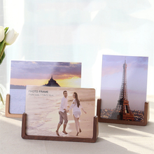 U-shaped Solid Wood Photo Frame Acrylic Log Color Living Room Table Setting European Style  Creative Wedding Photo Picture Frame a4 size wood photo frame solid wood photo frame stand table display photo quadro decoration tv wall frame best gift 2019