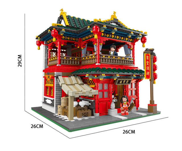 3267 шт moc креативные китайские строительные блоки для ресторана фотография