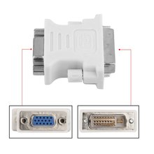 DVI DVI-I Male 24+5 Pin to VGA Female Video LCD Converter Adapter Plug for DVD HDTV Male To Female Adapter White
