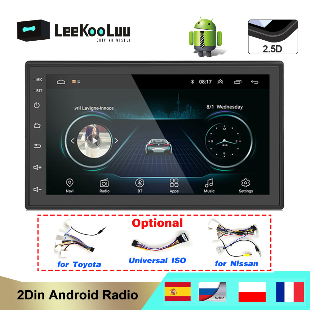 Leekooluu GPS Navigation Multimedia-Player Autoradio Mirrorlink Bluetooth Stereo WIFI title=