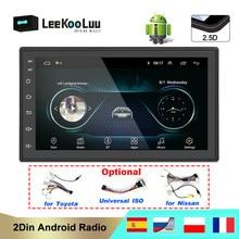 LeeKooLuu автомобильное радио 2 din Android GPS навигация Авторадио Bluetooth WIFI MirrorLink стерео 7