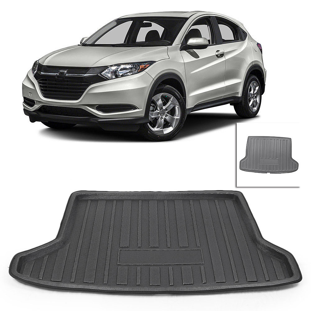 TPR Rear Trunk Tray Cargo Boot Mat Liner Floor Carpet For Honda HR-V HRV Vezel 2014 2015 2016 2017 2018 Black Car Accessories