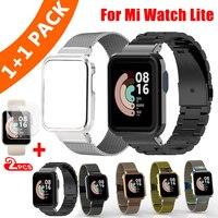 Metalen Horloge Case Armband Voor Xiaomi Mi Horloge Lite Band Rvs Polsband Voor Xiaomi Horloge Lite Metalen Band Pols band