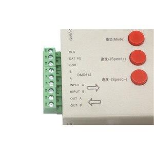 Image 4 - DC5~24V T 1000S 128G 256G RGB Controller T1000S SD Card APA102 WS2801 WS2811 WS2812B LPD6803 DMX512 LED 2048 Pixels Controller