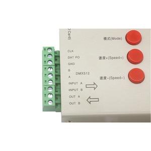 Image 4 - DC5 ~ 24V T 1000S 128G 256G RGB 컨트롤러 T1000S SD 카드 APA102 WS2801 WS2811 WS2812B LPD6803 DMX512 LED 2048 픽셀 컨트롤러