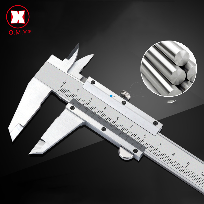 "Vernier Caliper 6"" 0 150mm 0.02mm Metal Calipers Stainless Steel Hardened Metric Machinist Thickness Micrometer Measuring Tools