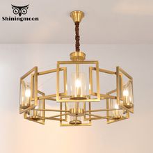 French Luxury Crystal LED Chandelier Lighting Golden Copper Bedroom Ceiling Chandeliers Modern Living Room Loft Hanging Lamps modern minimalist golden led circular living room crystal lamp creative lamps atmospheric luxury hall ceiling lighting fixture