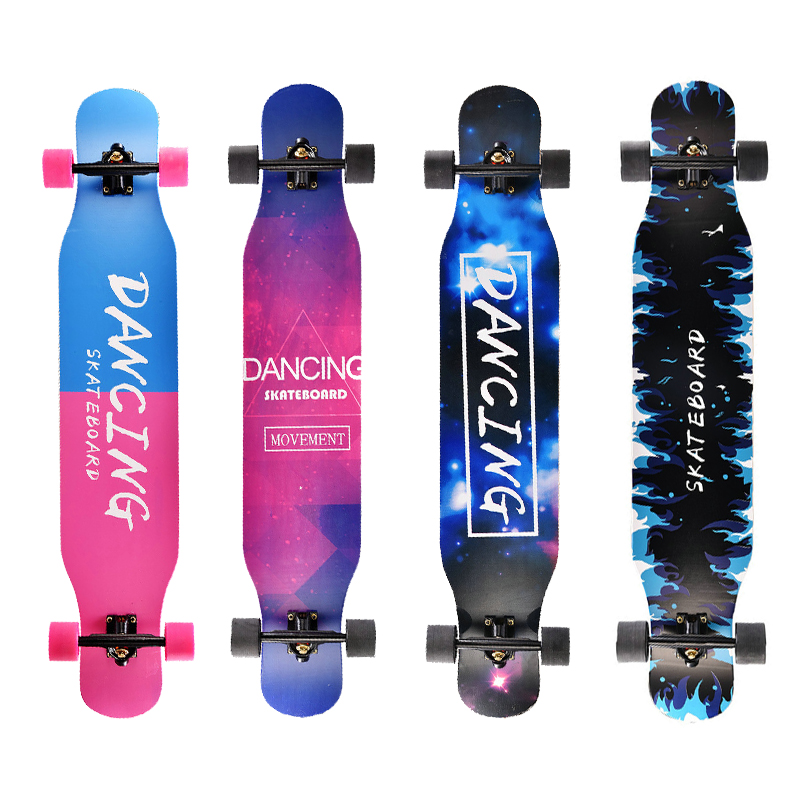Image 3 - Professional Complete Longboard Skateboard Street Dancing Longboard Skateboard Downhill Maple Deck Board-in Skate Board from Sports & Entertainment