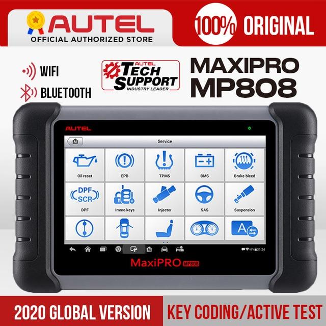 Autel MaxiPRO MP808 teşhis tarayıcı aracı OBD2 tarayıcı OBDII otomotiv araçları olarak MAXIDAS DS808 MaxiSys MS906 güncelleme DS708