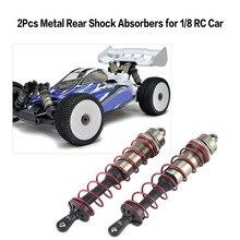 все цены на 2019 2Pcs Aluminium Alloy Metal Rear Shock Absorbers for 1/8 Scale JLB HSP EM Racing DHK HPI ZD Racing RC Car Truck онлайн