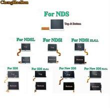 قطع غيار شاشة LCD سفلية وعلوية سفلية لشاشة نينتندو d DS Lite/NDS/NDSL/NDSi جديدة 3DS LL XL لمفتاح نينتندو d