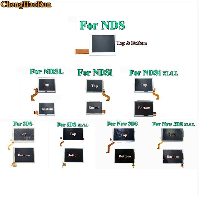 교체 부품 Nintend DS Lite/NDS/NDSL/NDSi 용 상단 하단 및 상단 하단 LCD 화면 디스플레이 Nintend Switch 용 새로운 3DS LL XL
