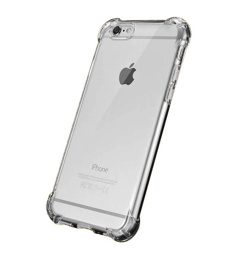 מקרה עבור iphone 5s se 6 6s 7 8 x xr xs 11 פרו מקס בתוספת כרית אוויר נגד ירידה נייד טלפון מקרה שקוף סיליקון מקרה