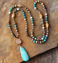 Lange Ketting Natuurlijke Stenen Kristallen Druzy Teardrop Hanger Ketting Vrouwen Ketting Ketting Bead Yoga Ketting Dropshipping