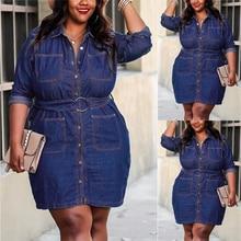 2020 Women Fashion L-5XL Plus Size Denim Shirt