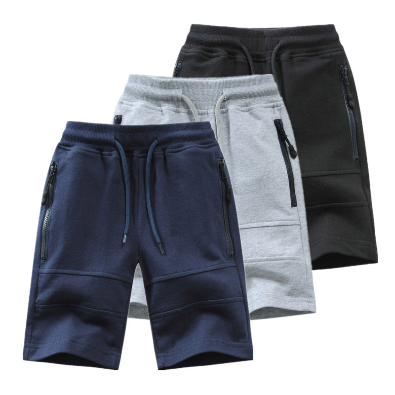 Children Boys Shorts 2021 Summer Zipper Pocket Design Kids Casual Knitted Shorts For Boys 3 4 6 8 10 12 14 Years Clothing Dwq240 1