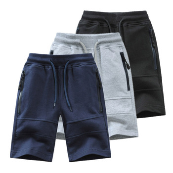 Children Boys Shorts 2020 Summer Zipper Pocket Design Kids Casual Knitted Shorts For Boys 3 4 6 8 10 12 14 Years Clothing Dwq240 1