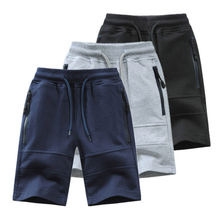 Children Boys Shorts 2021 Summer Zipper Pocket Design Kids Casual Knitted Shorts For Boys 3 4 6 8 10 12 14 Years Clothing Dwq240