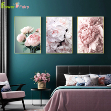 цена на Flowers Rose Peony Wall Pictures For Living Room Plant Petal Cuadros Wall Art Canvas Painting Canvas Posters And Prints Unframed
