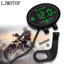 Super Waterproof Digital Panel Voltmeter Meter Tester Led Display For Kawasaki VERSYS 1000 Z1000 ZX10R ZX12R ZX9R ZZR600 Z900