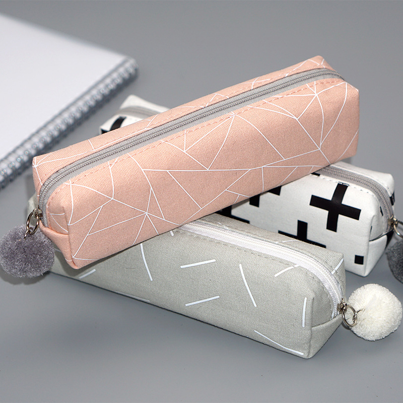 Cute Solid Color Pencil Case Back To School Pencilcase Pen Bag For Girls Kids Storage Bag Gift Kawaii Stationery Student  Supply